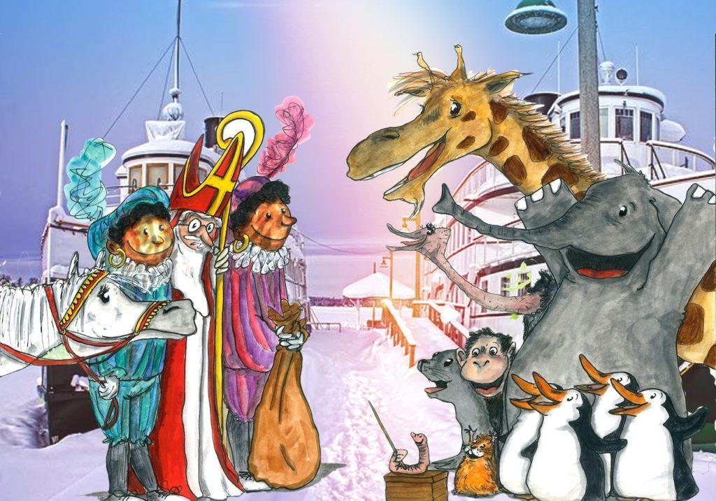 Kareltje en Sjonnie en de intocht van Sinterklaas